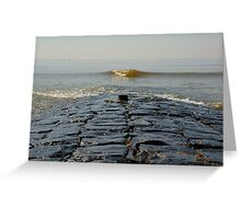 The middle of cobblestone jetty Greeting Card