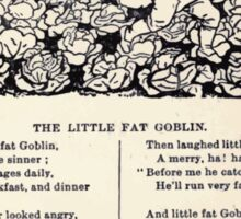 Miniature Under the Window Pictures & Rhymes for Children Kate Greenaway 1880 0047 The Little Fat Goblin Sticker