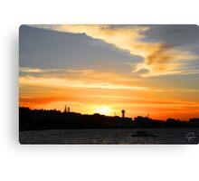 Newcastle Harbour Sunset- Australia Canvas Print