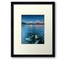 Snow Clouds @ Sunset - Glenuig Bay Framed Print