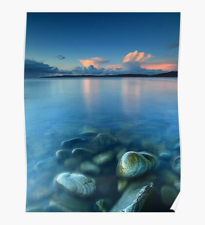 Snow Clouds @ Sunset - Glenuig Bay Poster