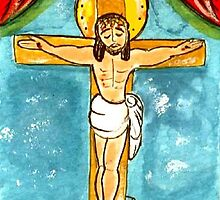 JESUS ON THE CROSS by Frances Perea
