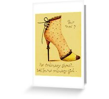 Shoes pour moi? Greeting Card