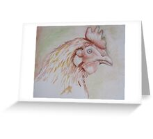 Liberated ex battery chicken - Happy Hen Greeting Card