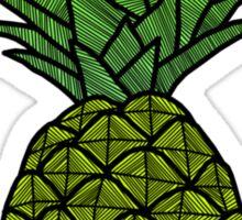 Fluro Pineapple Sticker Sticker