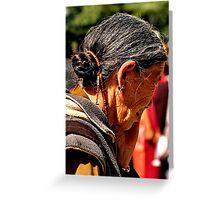 tibetan woman. northern india Greeting Card