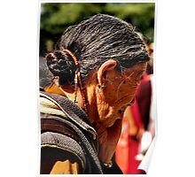 tibetan woman. northern india Poster