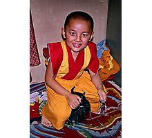 young monk. northern india Photographic Print