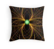 Attention for green Throw Pillow
