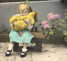 Girl with Chicken by Christine Wilson