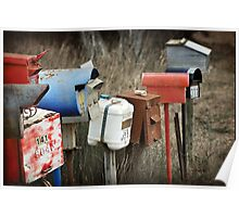 Farmers Roadside Mail Boxes Poster