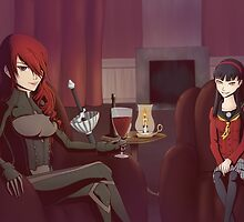 Persona - Misturu and Shadow Yukiko by B7art
