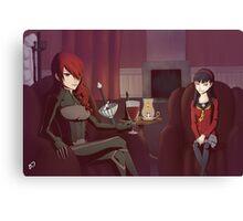 Persona - Misturu and Shadow Yukiko Canvas Print