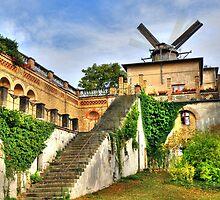 OLD Windmill in Potzdam Germany by pdsfotoart