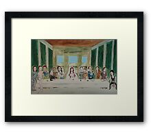 My Rendition of the Last Supper Framed Print