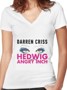 Darren Criss in Hedwig and the Angry Inch Women's Fitted V-Neck T-Shirt