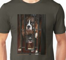 Behind Bars -Boxer Dogs Series- Unisex T-Shirt