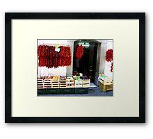 Store in Amalfi Framed Print