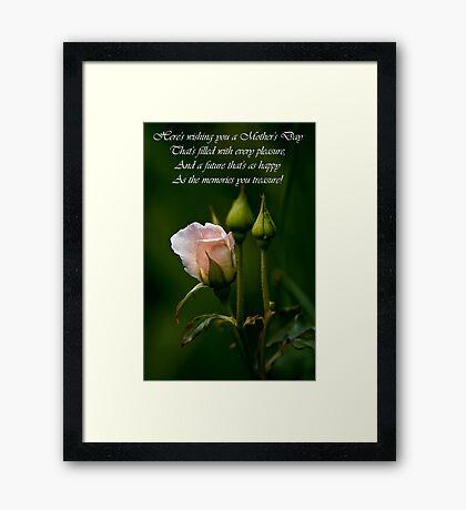Mother's Day Card 4 Framed Print