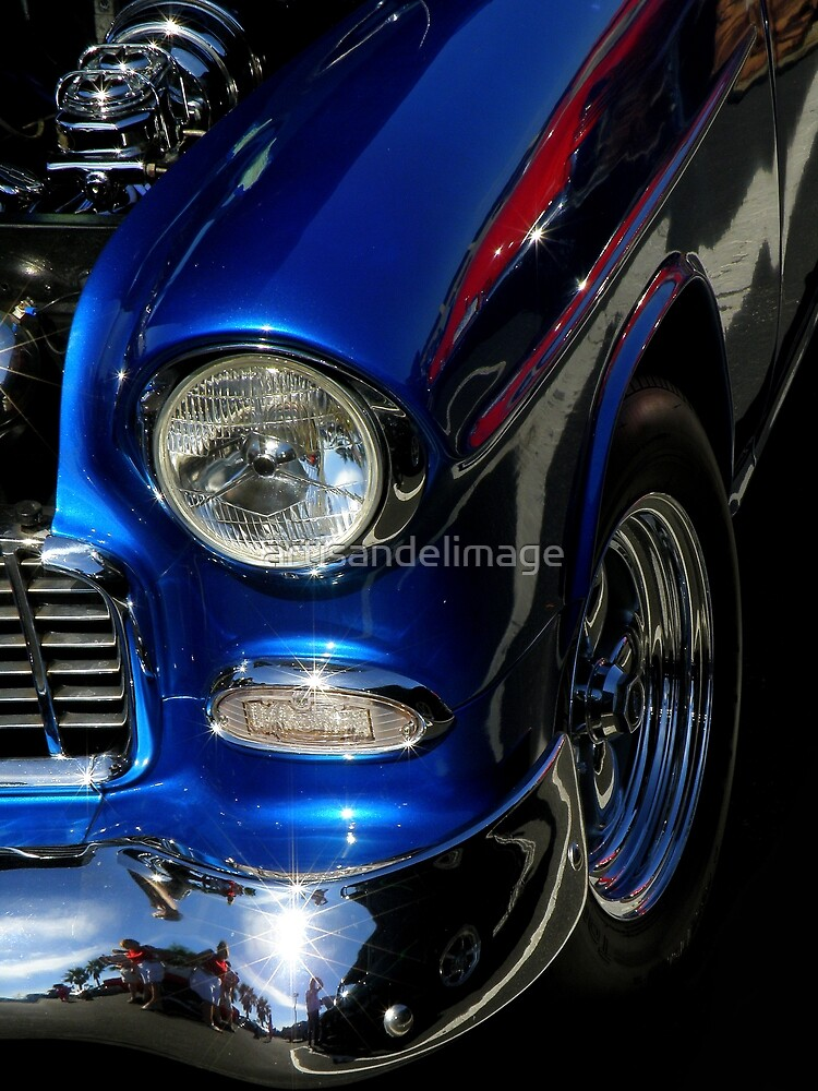 Blue With Chrome And A Hint Of Red by artisandelimage