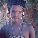 Fulani Girl on Market Day, Tahoua, Niger by Valarie Napawanetz