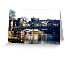 River Ouse View - York Greeting Card