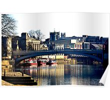River Ouse View - York Poster