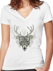 Noble Heart Women's Fitted V-Neck T-Shirt