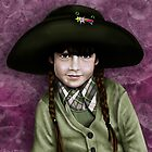 Daddy's Hat (green & purple) by Patricia Anne McCarty-Tamayo