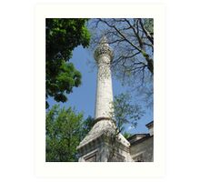 A minaret of Bayezid Mosque-TURKEY Art Print