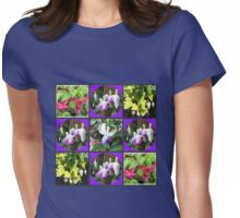 Fuchsia Belles Collage Womens Fitted T-Shirt