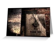 The Night Bell Greeting Card