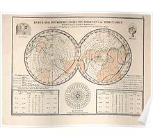 Atlas zu Alex V Humbolt's Cosmos 1851 0153 Magnetic Map Poster