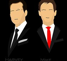 Suits - Harvey Specter, Mike Ross by Fink76