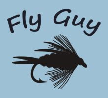 Fly Guy  - Fly Fishing T-shirt by Marcia Rubin