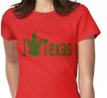 0241 I Love Texas  Womens Fitted T-Shirt