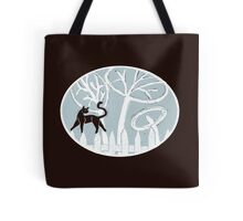 Cat on a Fence Tote Bag