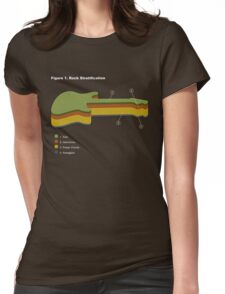Rock Stratification Womens Fitted T-Shirt