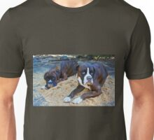 Just trying to help!  -Boxer Dogs Series- Unisex T-Shirt