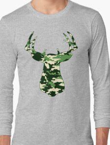 Camo Buck - Hunting T-shirt Long Sleeve T-Shirt
