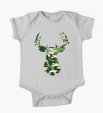 Camo Buck - Hunting T-shirt Kids Clothes