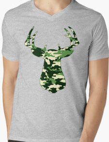 Camo Buck - Hunting T-shirt Mens V-Neck T-Shirt