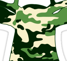 Camo Buck - Hunting T-shirt Sticker