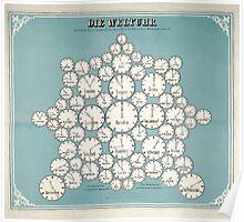 Atlas zu Alex V Humbolt's Cosmos 1851 0139 Die Weltur Time Poster