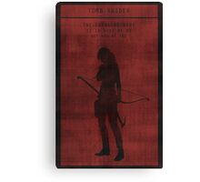 Tomb Raider Gaming Poster Canvas Print