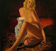 Nude with Jug by John Entrekin