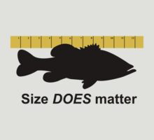 Size does matter - fishing T-shirt by Marcia Rubin