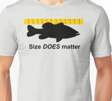 Size does matter - fishing T-shirt Unisex T-Shirt