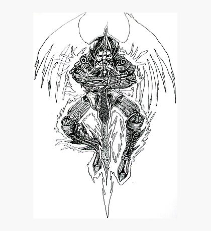 Demon lord .Created 2004 on cartridge paper  Photographic Print