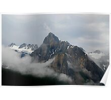 Cloaked in Cloud - Banff National Park Poster